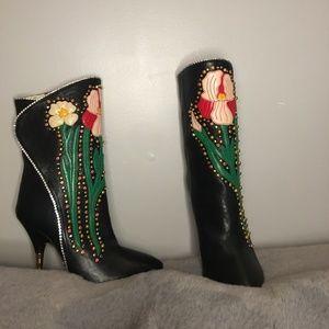 Brand New Gucci Intarsia Boots